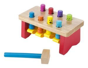 Melissa & Doug Deluxe Pounding Bench Wooden Toy With Mallet (Small)
