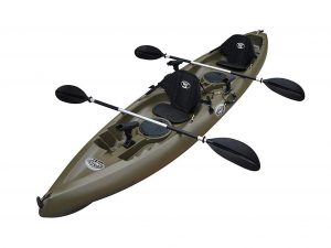 BKC UH-TK181 12-foot 5-inch Sit On Top Tandem 2 Person Fishing Kayak